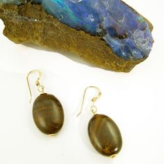Ironstone (Queensland, Australia) and gold-filled earrings by Gemtation Jewellery Queensland Australia, Handcrafted Jewelry, Jewelry Crafts, Gemstone Jewelry, Jewellery, Drop Earrings, Gemstones, Gold, Handmade Chain Jewelry