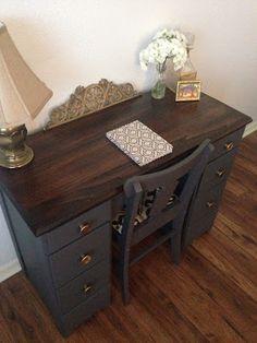 11 Best grey desk images   Grey desk, Paris grey, Painted ...