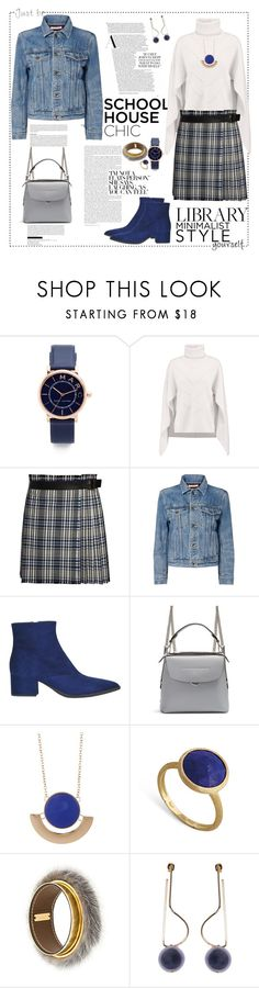 """""""Work Hard, Play Hard: School house chic"""" by ellie366 ❤ liked on Polyvore featuring Marc Jacobs, Sandro, Alexander McQueen, Helmut Lang, Miu Miu, Fendi, 14th & Union, Marco Bicego, Marni and plaid"""