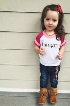 Hangry Kids Tees-----for Izzy My Little Girl, My Baby Girl, Baby Girls, Baby Kind, Baby Love, My Princess, Little Princess, Cute Kids, Cute Babies