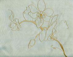 fabrics silk | Orchid Silk Curtain Fabric Duck egg silk curtain fabric with gold ...
