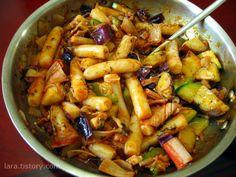 귀차니즘의 비빔면 떡볶이 :: 4월의라라 | 맛난 요리, 건강한 집밥