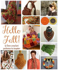 Hello Fall! 12 Free Crochet Patterns To Inspire, roundup on Fiber Flux