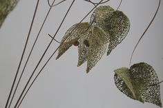 Seed pods using Czech beads - designed whilst on lace course in Prague