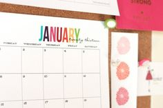 Free Printable 2013 Monthly Calendar :: The TomKat Studio
