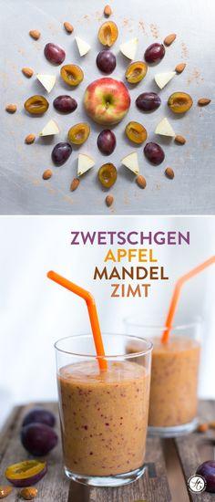 Zwetschgen-Apfel-Mandel-Smoothie   Rezept zum #SmoothieMontag von feiertaeglich.de