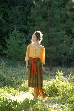 1970s Day Dress... Vintage 70s Dress... by AstralBoutique on Etsy, $58.00