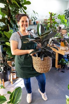 Evergreen Studio is a plant nursery located in Perth, WA who specialise in everything to do with indoor plants, and most importantly - helping you keep them alive!🌱  Led by horticulturalist Michelle, the crew look fresh & fantastic in our Tom Bib Apron in Forest Green - the perfect shade to match their green thumbs! 💚| Gardening Apron | Plant Nursery Design | Plant Interiors Bib Apron, Aprons, Forest Color, Gardening Apron, Workwear Fashion, Plant Nursery, Perth, One Size Fits All, Evergreen