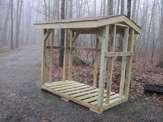 Custom wood shed, log holder. firewood storage. $900.00, via Etsy.