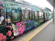 Graffiti op de trein Sommigen vinden het kunst en sommigen vinden het lelijk. Verschil in smaak.