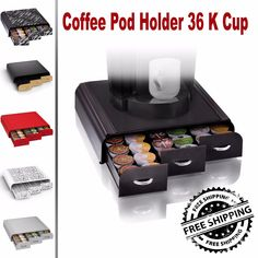 Coffee Pod Holder 36 K Cup Storage Rack Cups Drawer Organizer Keurig 7 Color NEW  BUY THIS ON EBAY NOW  BUY THIS ON EBAY NOW  Item specifics  Condition:  New: A brand-new unused unopened undamaged item in its original packaging (where packaging is  Type:  Coffee Pod Holder 36 K Cup  Model:  Pod Holder 36 K Cup  Brand:  Keurig  MPN:  Pod Holder 36 K Cup  Material:  Upscale Plastic  Free Shipping:  Yes  Coffee Pod Holder 36 K Cup Storage Rack Cups Drawer Organizer Keurig 7 Color NEW  Price…