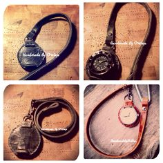 Leather vintage pocket Watch strap. Handmade By Ortlep. Visted http://www.handmadebyortlep.com to order