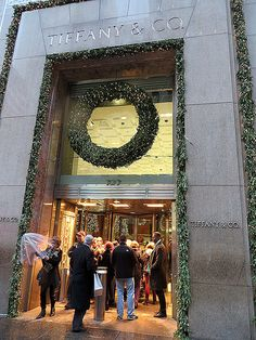 Tiffany & Co. at Christmas, 727 Fifth Avenue. The perfect place to pick up some pretty little stocking fillers!