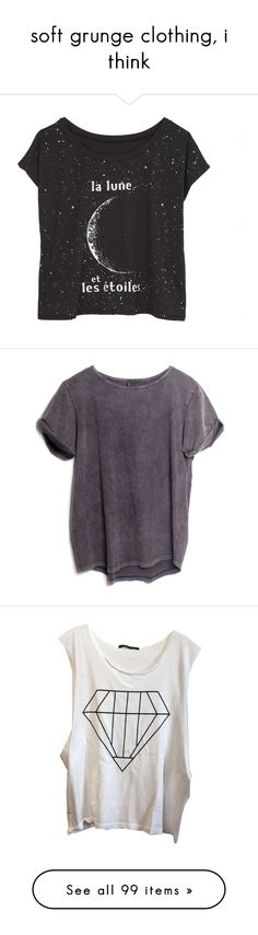 """""""soft grunge clothing, i think"""" by sierrasaphira ❤ liked on Polyvore featuring tops, t-shirts, shirts, tees, graphic tees, graphic t shirts, graphic design t shirts, graphic shirts, graphic design tees and shirts & tops"""