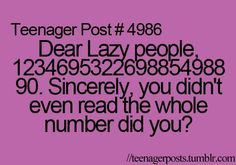 So funny because I knew you didn't read all those numbers like I didn't!!!