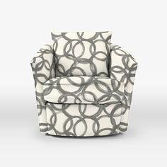 brushstrokes swirl grey armchair