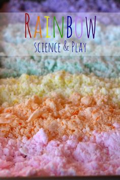 Rainbow Baking Soda and Vinegar Experiment - Happily Ever Mom