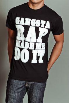 Ice Cube Gangsta Rap Made Me Do It T-Shirt Black