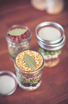 A pot of soup is not the kind of present you can wrap—but a beautifully layered jar of homemade soup mix is! Plus, you can make a lot of presents at once to use up all those beans.