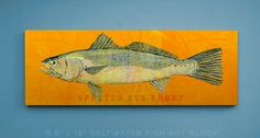 New to johnwgolden on Etsy: Speckled Sea Trout Art Block Sign- Fish Artwork- Beach Theme Art- Perfect Gift for Boyfriend- Speckled Sea Trout Print- Fishing Gift for Dad (24.50 USD)