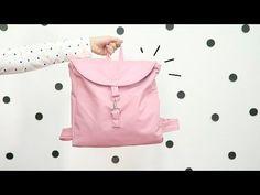How to make a Rucksack Mochila Tutorial, Back Bag, Clutch, Handmade Bags, Travel Bags, Fashion Backpack, Backpacks, Couture, Tote Bag
