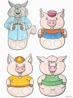 Three little pigs 3 Little Pigs Activities, Preschool Learning Activities, Toddler Activities, Animal Crafts For Kids, Art For Kids, Scrapbook Letters, Finger Puppet Patterns, Insect Crafts, Puppets For Kids