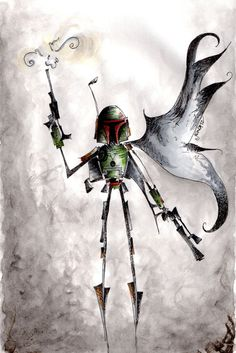The Fett  by Jena Sinclair. Reminds me of Tim Burton's artwork