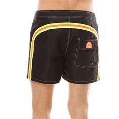 #Sundek short da mare cintura piatta nero Uomo ad Euro 96.00 in #Bermuda #Costumi da bagno