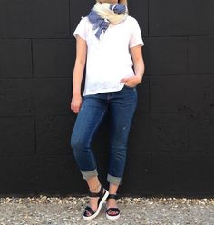 Sale M.i.H Jeans available online with American Vintage Tee, Becksondergaard Scarf and Emma Go Sandals