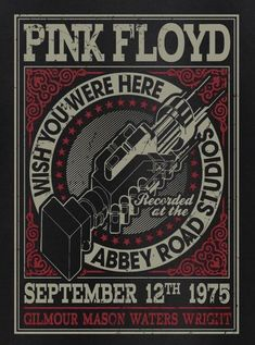ideas music concert flyer pink floyd for 2019 Rock Vintage, Vintage Music, Vintage Concert Posters, Vintage Posters, Arte Pink Floyd, Pink Floyd Poster, Pink Floyd Logo, Concert Rock, Pink Floyd Concert