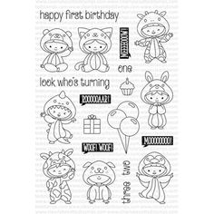 Clearly Besotted ALL IN ONESIE Clear Stamp