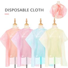 50PCS Disposable Hair Hairdresser Bib Shawl Perm Dyeing Transparent Barber Cape Scarf Waterproof Hairdressing Wrap Membrane Set Product material: PE material  Product size: 16*11*3  Product weight: about 3380g  Color: red, purple, yellow, blue  Product packaging: OPP bag  Applicable crowd: general  Product Quantity: 50PCS Cut Hair At Home, Cape Scarf, Product Packaging, Perm, Purple Yellow, Hairdresser, Color Red, Barber, Crowd