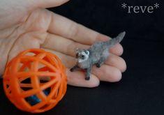 Handmade Miniature Ferret by ReveMiniatures on deviantART