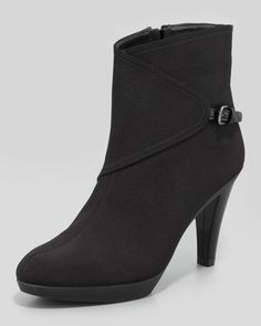 Gorgeous Gore-Tex Buckled-Side Bootie by Stuart Weitzman at Neiman Marcus.