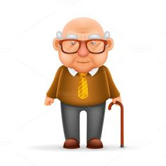 Buy Old Man Grandfather Realistic Cartoon Character by Meilun on GraphicRiver. Old Man Grandfather Realistic Cartoon Character Design Isolated Vector Illustrator Man Illustration, Illustrations, Old Man Cartoon, Cartoon Body, Realistic Cartoons, Character Design Sketches, Fantasy Character, Funny Text Posts, Animation