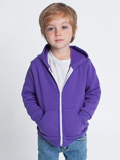 American Apparel F197 - Toddler Flex Fleece Zip Hoody #americanapparel #toddler