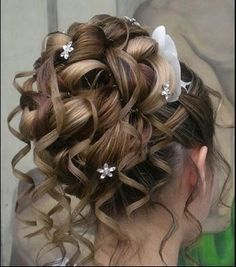 Coiffures chignons and mariage on pinterest - Chignon boucle mariage ...