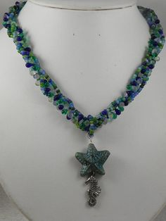 Sea Horse Necklace by fatcatantique on Etsy, $15.00