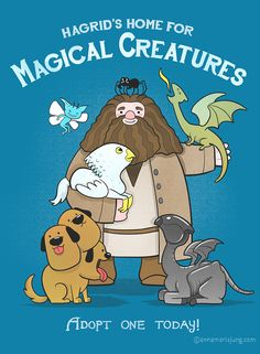 """annamariajung: """"Hagrid's Home for Magical Creatures"""" by Anna-Maria Jung"""