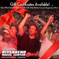 """Need something for that music lover on your shopping list? Gift Certificates are available now! Buy them in person at the Taft Theatre box office, or by emailing info@riverbend.org with the subject """"Gift Certificates""""."""