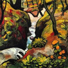 bofransson:  Forest Brook by August Macke