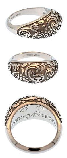 Carrera y Carrera 18kt white Gold aqua Collection Ring