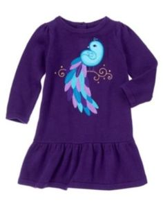 GYMBOREE-WINTER-PEACOCK-PURPLE-PEACOCK-SWEATER-DRESS-6-12-18-24-2-3T-4T-5T-NWT