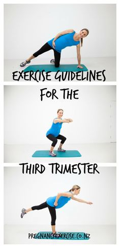 Pregnancy Exercise: A guideline to exercise during the third trimester #pregnancyexercise #pregnancyfitness
