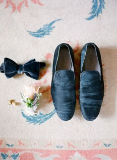 Groom Attire // Shoes// Velvet Bow tie //Palm Springs Wedding from Lacie Hansen Photography Wedding Men, Wedding Groom, Wedding Suits, Blue Wedding, Spring Wedding, Wedding Styles, Diy Wedding, Dream Wedding, Groom And Groomsmen Style
