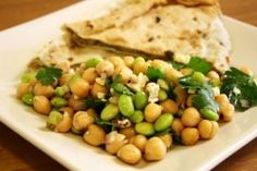 Mediterranean Summer Bean Salad, think I might try this with the fava beans (instead of soy beans) I picked up this morning at the sonoma farmers' market