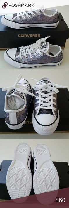 NWT Converse - Take Me To The Dance Sneakers Just wow Converse sequins blings that is so fun and unexpected. Listing as 5.5.  Runs big fits 5.5 even with thick socks on.  Wear it to the club, to the party, to the prom and dance the night away in style and comfort! Converse Shoes Sneakers