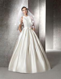 Kleid Zulaila, schlicht im Prinzessin-Stil