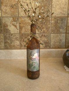 Hummingbird Wine Bottle
