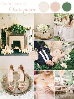 Warm Neutral Spring Wedding Inspiration in Cashmere and Champagne | http://heyweddinglady.com/9-ethereal-wedding-palettes-spring/